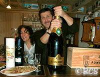 Matuhusalemのシャンパンが出されたホームパーティ