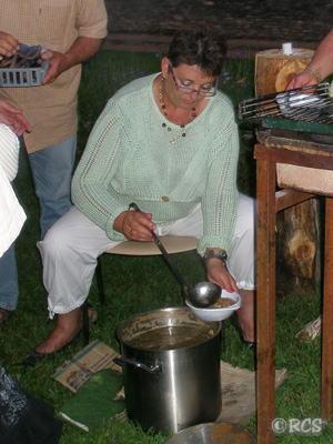 大鍋で作ったスープ!