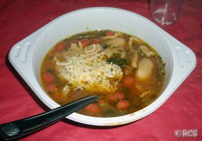 誕生パーティーで出されたスープ