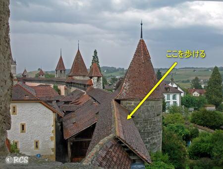 昔の町をめぐっていた要塞