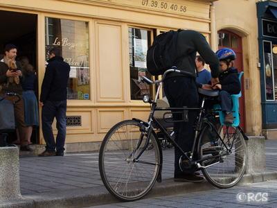 ヴェルサイユの町で撮影