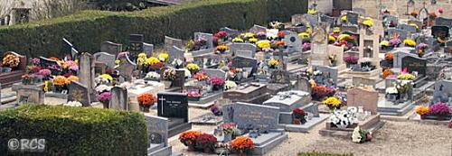 こんなに飾られていると、お花を持ってきてもらえなかった死者は寂しい思いをするでしょうね・・・。