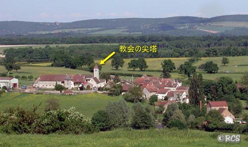 フランスの小さな村の風景