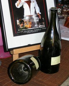 19世紀のブルゴーニュ式ワインボトル