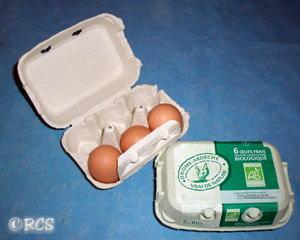 卵の6個入りケース