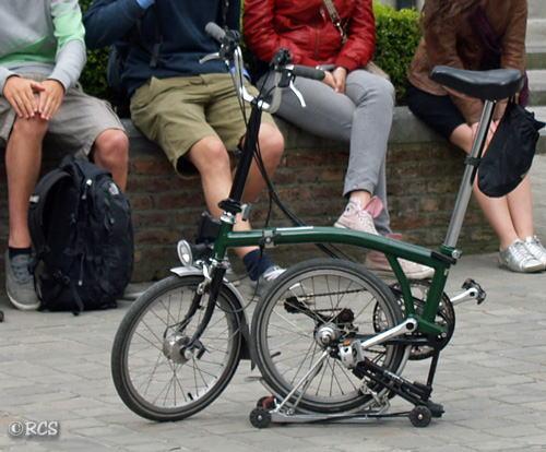 ベルギーで見た折りたたみ自転車