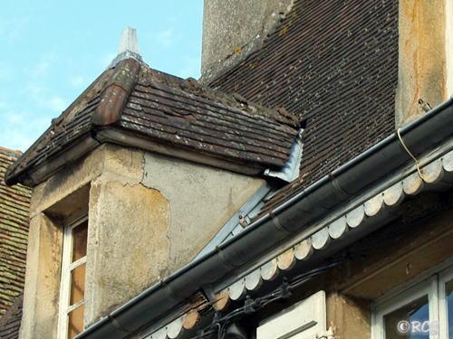 屋根の上にはパパとママがいた