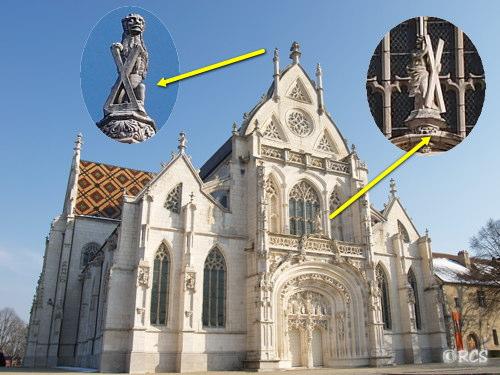 ブルー王立修道院の正面