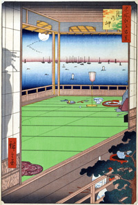 行った寿司屋があったのは東京の月島。江戸末期には、こんなに長閑なところだったようです。