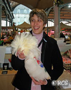 クリスマスのご馳走「シャポン」と呼ばれる雄鶏